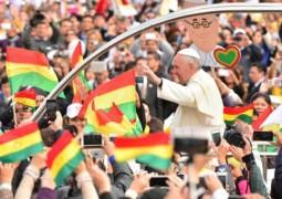 El papa Francisco llega a Santa Cruz (Bolivia). Jorge Abrego EFE