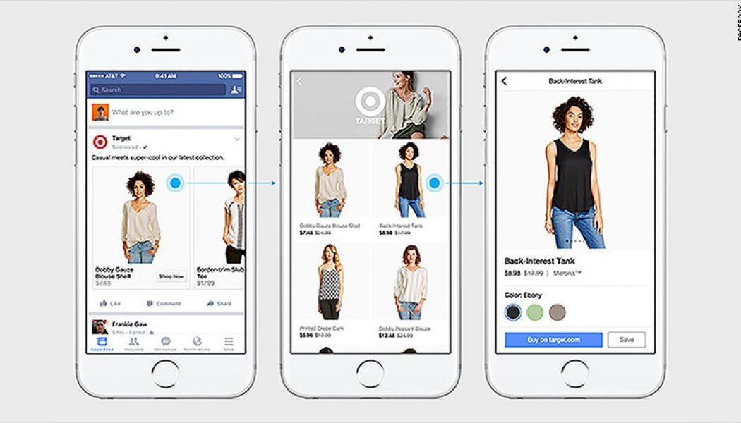 Facebook introduce nuevas características de compras