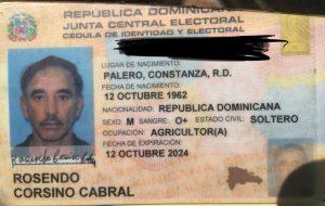 Cedula de identidad - Rosendo Corsino Cabaral