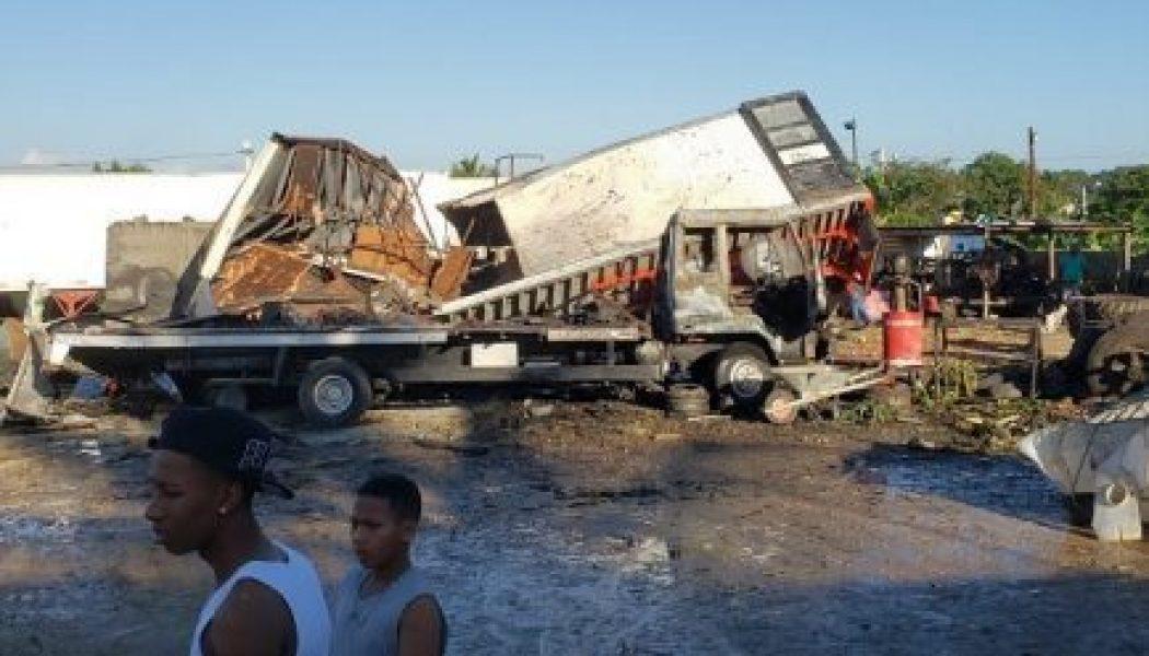 Un muerto y cinco heridos tras explosión en fábrica de Los Alcarrizos