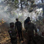 Extinguen fuego afectaba área del Parque Valle Nuevo