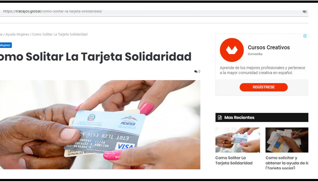 Vicepresidencia alerta estafadores ofrecen tarjetas Progresando a través de un portal