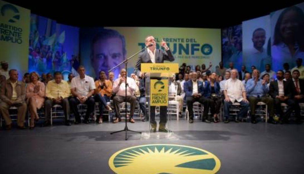 Frente Amplio proclama Luis Abinader como su candidato presidencial