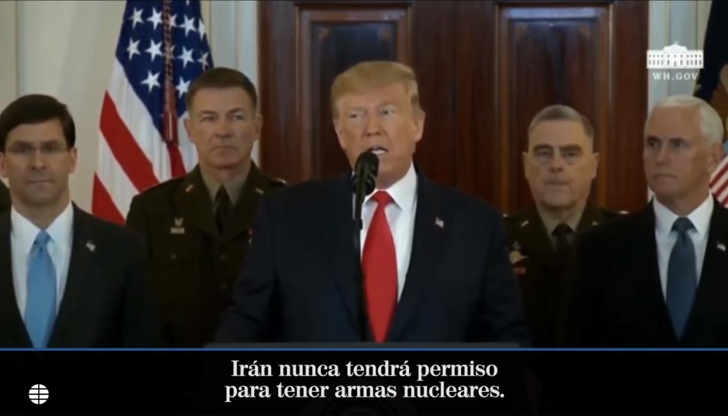 Donald Trump rebaja la tensión con Irán