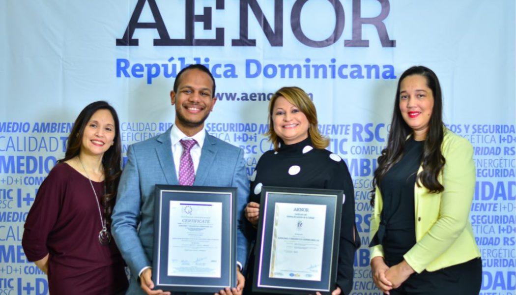 Alfridomsa recibe recertificación de calidad por AENOR
