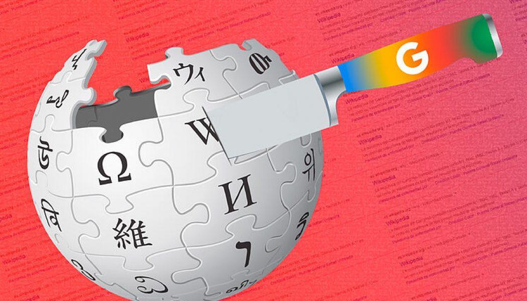 Así está matando Google la Wikipedia