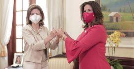 Margarita y la Vicepresidenta electa Raquel Peña se reunen en el Palacio