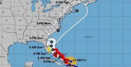 Isaías se convierte en huracán categoría 1 al sur de las Bahamas